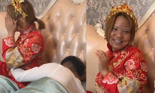 Cô dâu ngừng khóc khi bị bắt vào rửa bát - 2