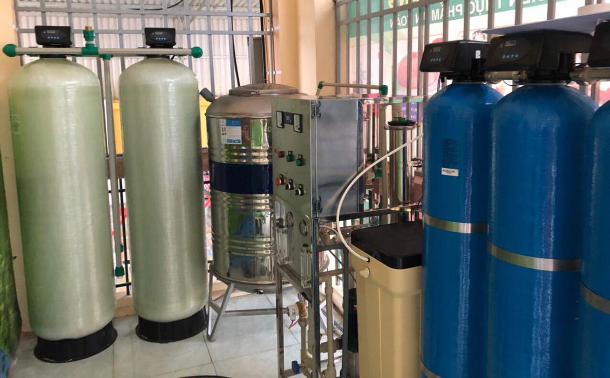 Một hệ thống lọc được lắp tại trường mầm tại Hà Nội. (ảnh: Nhóm nghiên cứu)
