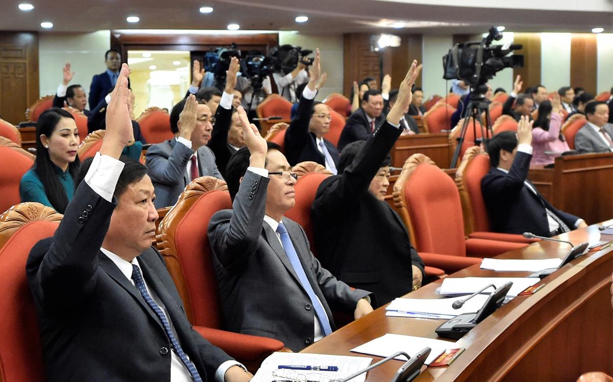 Trung ương đã nhất trí cao thông qua Nghị quyết của Hội nghị. Ảnh: VGP