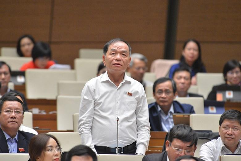 Đại biểu Lê Thanh Vân chất vấn về ĐH Tôn Đức Thắng. Ảnh: Trung tâm báo chí quốc hội
