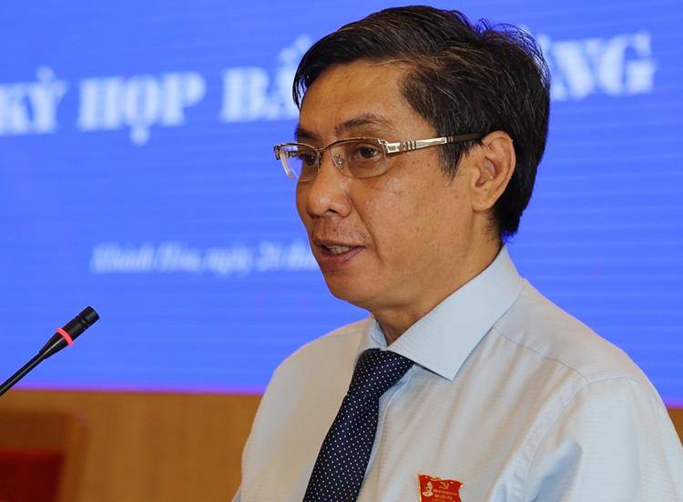 Ông Lê Đức Vinh tại kỳ họp HĐND tỉnh Khánh Hòa hôm 25/10. Ảnh: Xuân Ngọc.