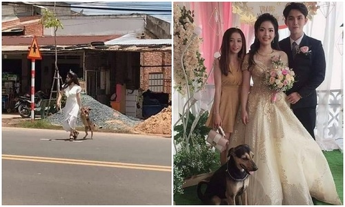Bạn cô dâu căng biểu ngữ đe dọa chú rể trước đám cưới  - 2