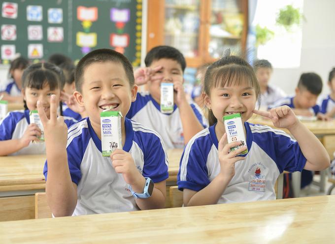 Học sinh trường Tiểu học Trang Tấn Khương (huyện Nhà Bè, TP HCM)