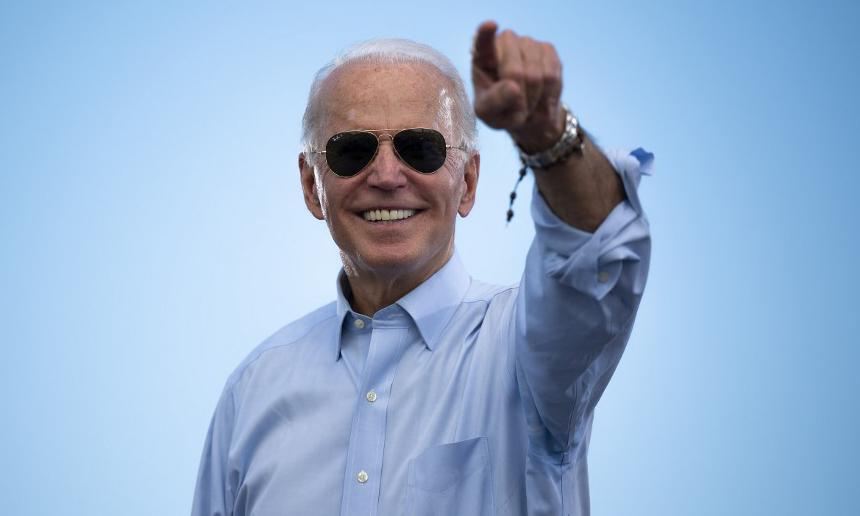 Tổng thống đắc cử Joe Biden tại một sự kiện ở Coconut Creek, bang Florida, hôm 29/10. Ảnh: AFP.