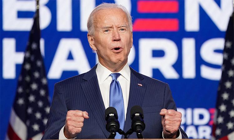 Joe Biden phát biểu tại Wilmington, Delaware, ngày 6/11. Ảnh: Reuters.