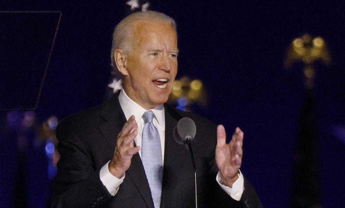 Biden phát biểu chiến thắng hôm 7/11. Ảnh: Reuters.