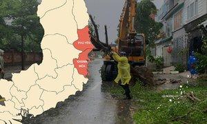 Phú Yên, Khánh Hòa sau bão Etau