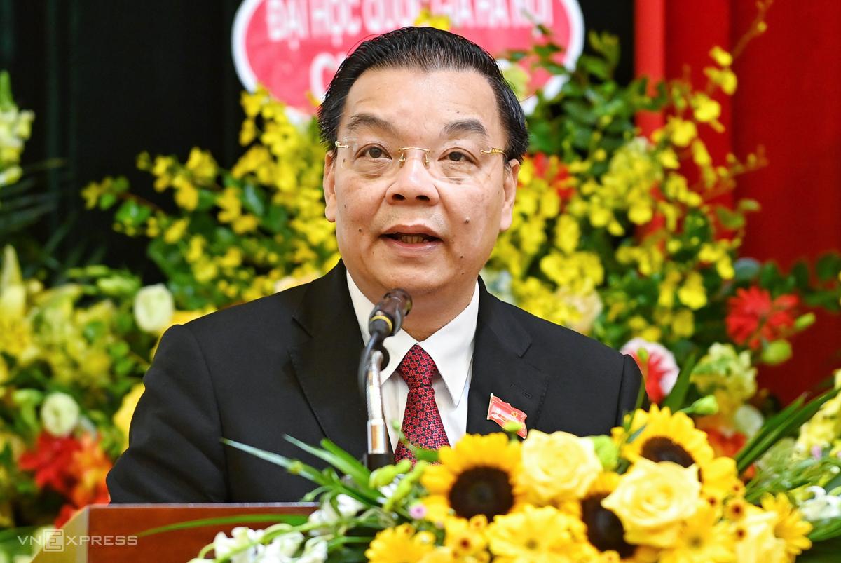 Bộ trưởng Chu Ngọc Anh phát biểu tại Đại hội. Ảnh: Giang Huy.