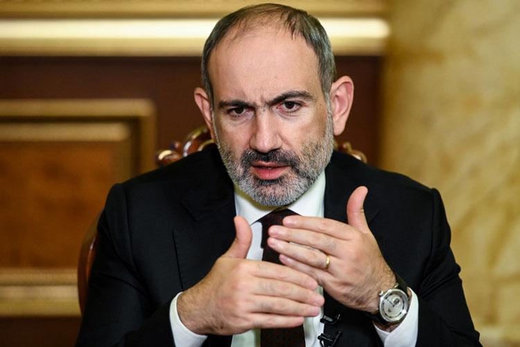 Thủ tướng Armenia Nikol Pashinyan trong một cuộc phỏng vấn hồi tháng 10. Ảnh: AFP.