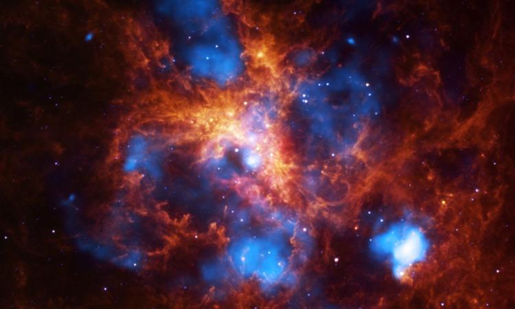 Nhiệt độ trung bình của khí vũ trụ tăng hơn 10 lần trong khoảng 10 tỷ năm. Ảnh: NASA..