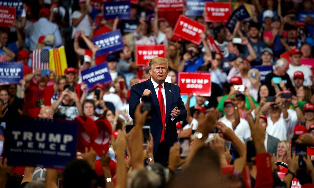 Tổng thống Donald Trump tại sự kiện vận động ở Orlando, bang Florida hồi tháng 6. Ảnh: AP.