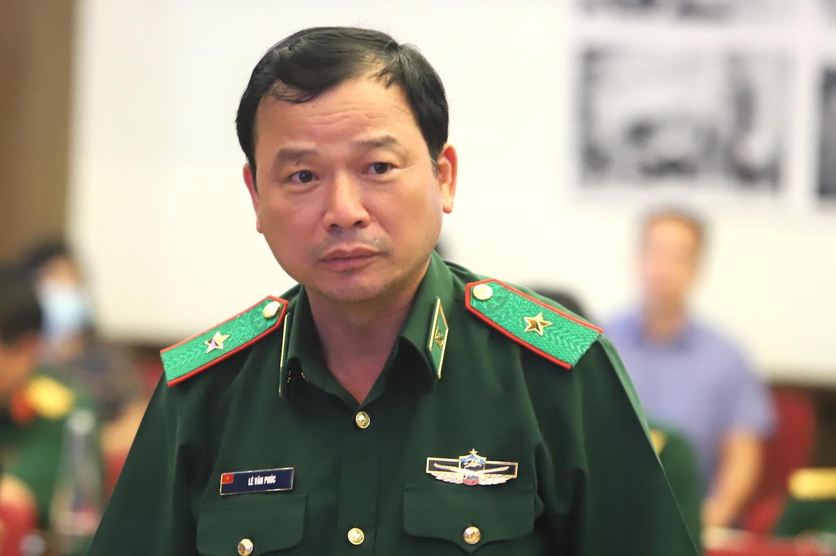 Phó Tư lệnh Bộ đội Biên phòng - thiếu tướng Lê Văn Phúc. Ảnh: Hiếu Duy