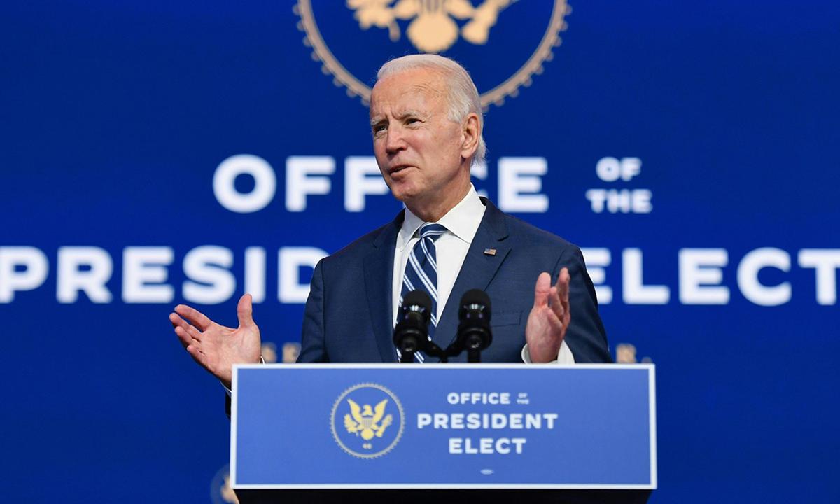 Joe Biden phát biểu tại Wilmington, bang Delaware hôm 10/11. Ảnh: AFP.