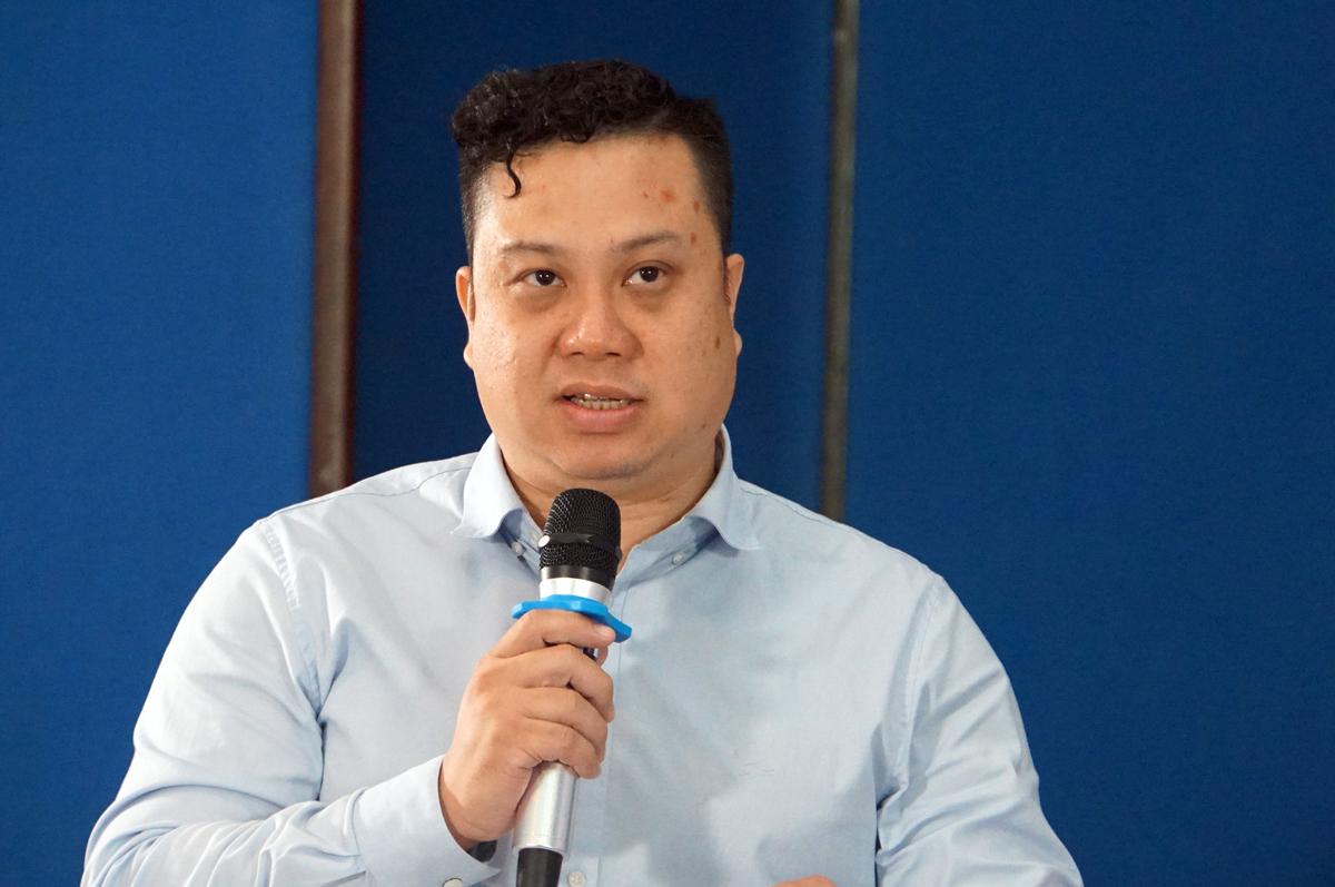 Ông Nguyễn Đức Trung, Phó hiệu trưởng Đại học Ngân hàng TP HCM tại toạ đàm. Ảnh: Mạnh Tùng.
