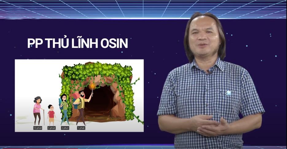 Thầy Trần Phương phân tích về phương pháp thủ lĩnh osin. Ảnh: HOCMAI.