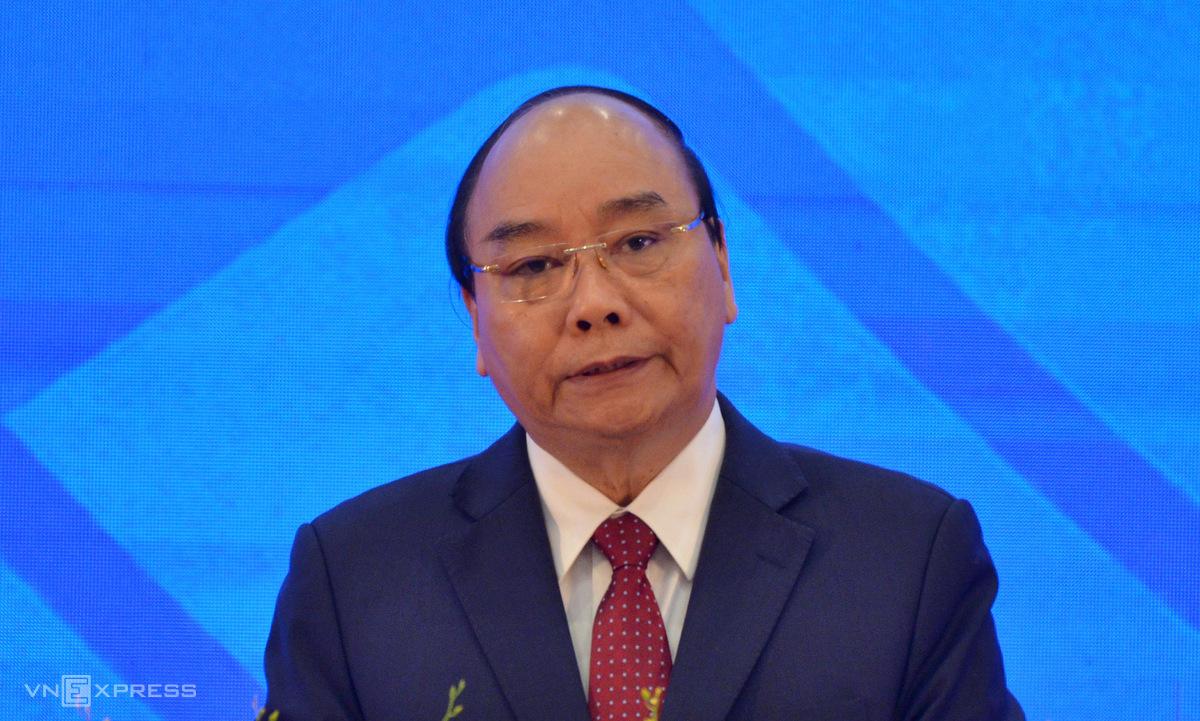 Thủ tướng Nguyễn Xuân Phúc trong lễ khai mạc Hội nghị cấp cao ASEAN lần thứ 37 sáng 12/11. Ảnh: Vũ Anh.