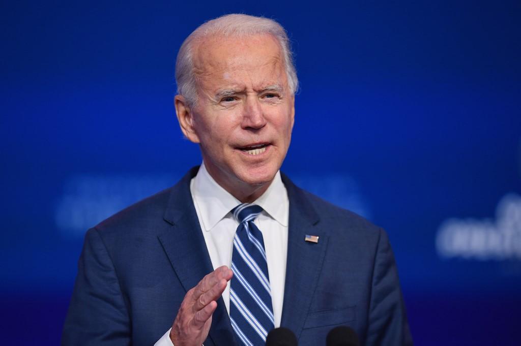 Joe Biden ở Delaware ngày 10/11. Ảnh: AFP.