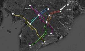 7 tuyến cao tốc kết nối miền Tây