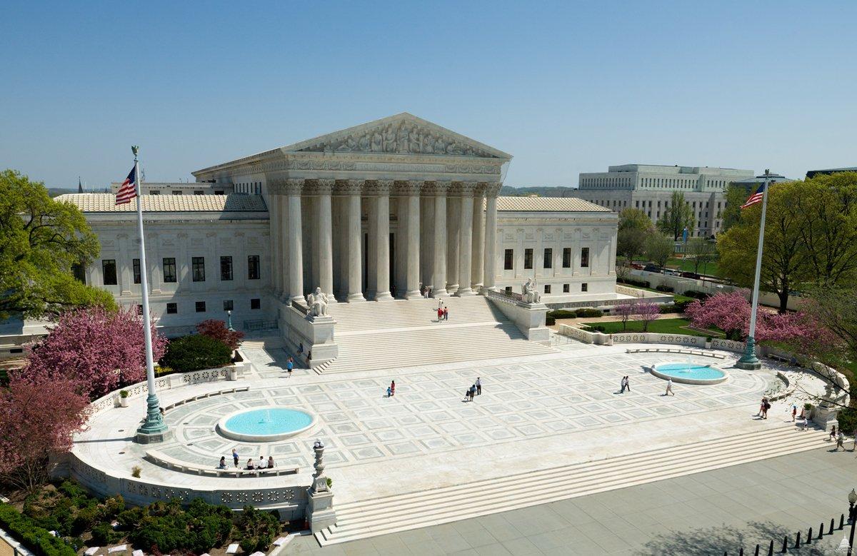 Toàn cảnh mặt phía Tây của trụ sở Tòa Tối cao Mỹ. Ảnh: AOC.