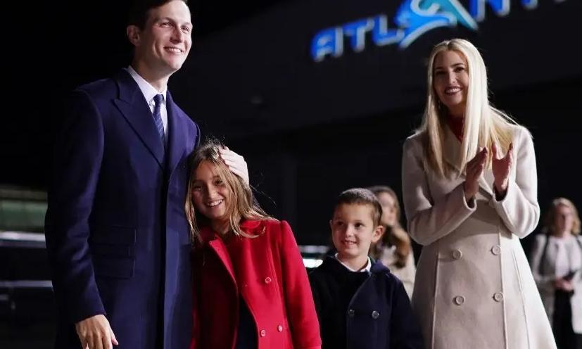 Vợ chồng Ivanka và hai con lớn hôm 22/9. Ảnh: AFP