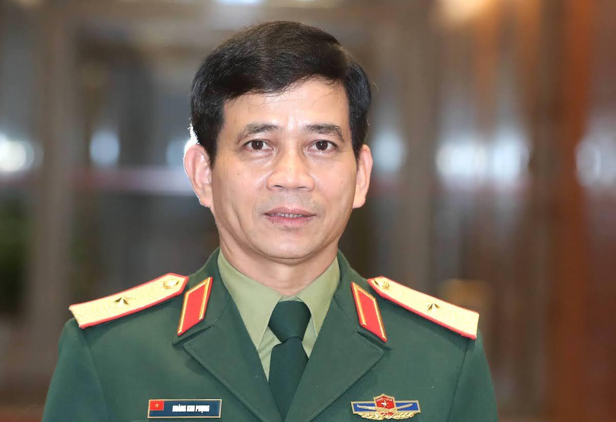 Thiếu tướng Hoàng Kim Phụng, Cục trưởng Gìn giữ Hòa bình Việt Nam tại nghị trường. Ảnh: Hoàng Phong