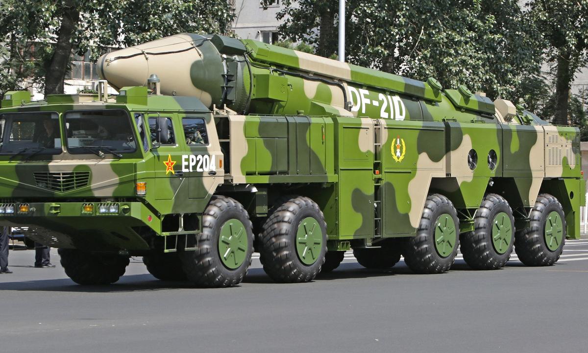 Tên lửa DF-21D được Trung Quốc trưng bày hồi năm 2015. Ảnh: Longshi Aviation.