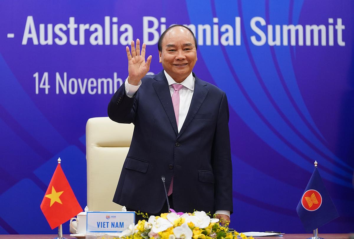 Thủ tướng Nguyễn Xuân Phúc chủ trì Hội nghị Cấp cao ASEAN - Australia lần 2 tại Hà Nội ngày 14/11. Ảnh: VGP.