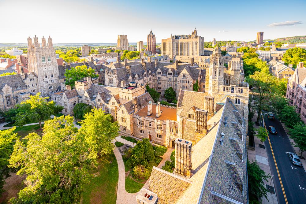 Khuôn viên Đại học Yale, Mỹ, trường thứ 6 trong bảng xếp hạng.