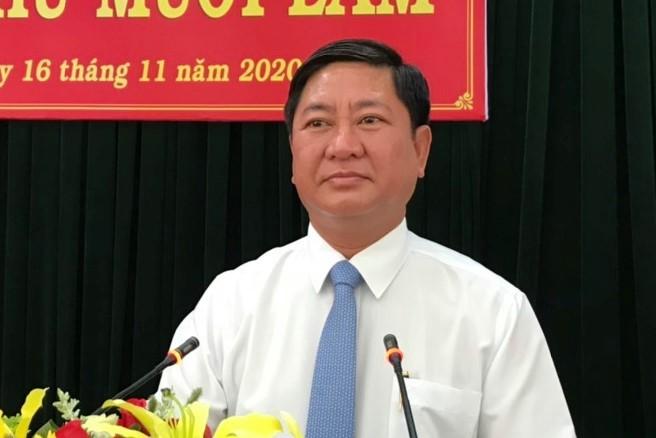 Ông Trần Quốc Nam, Chủ tịch UBND tỉnh Ninh Thuận, ngày 16/11. Ảnh: Đức Huynh.