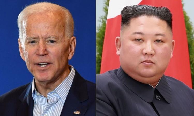 Tổng thống đắc cử Mỹ Joe Biden (trái) và lãnh đạo Triều Tiên Kim Jong-un. Ảnh: AFP.