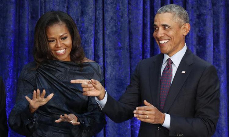 Vợ chồng cựu tổng thống Mỹ Barack Obama. Ảnh: Reuters.