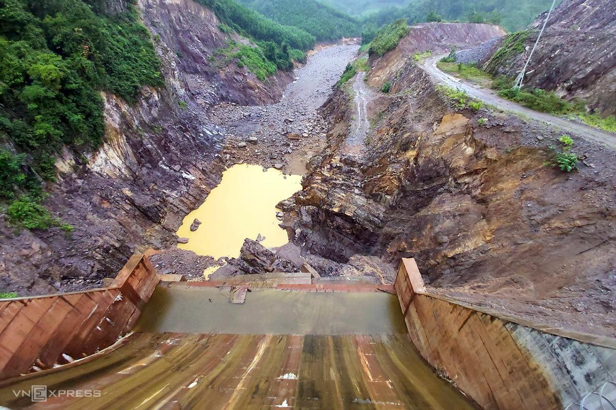 Công trình thuỷ điện Thượng Nhật. Ảnh: Dũng Đài.