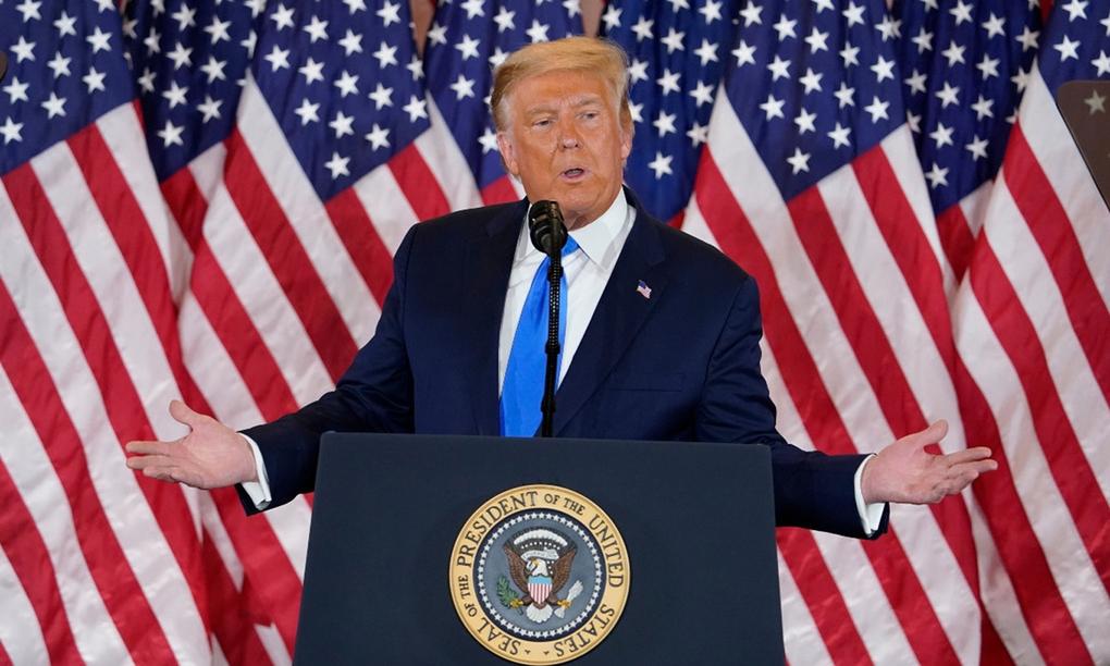 Tổng thống Donald Trump tại Nhà Trắng hôm 4/11. Ảnh: AP.