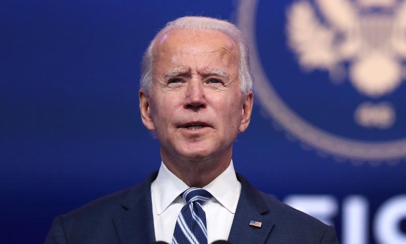 Tổng thống đắc cử Mỹ Joe Biden phát biểu trước báo giới tại Wilmington, bang Delaware, hôm 10/11. Ảnh: AFP.