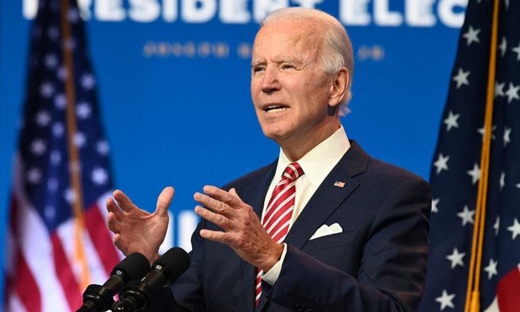 Tổng thống đắc cử Biden tại cuộc họp báo ở Wilmington, bang Delaware, hôm 16/11. Ảnh: AFP.