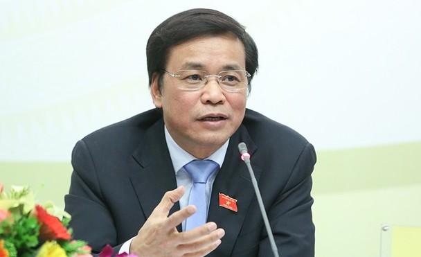Tổng thư ký, Chủ nhiệm Văn phòng Quốc hội Nguyễn Hạnh Phúc. Ảnh: Hoàng Phong