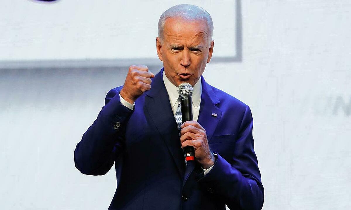 Joe Biden tại California hồi tháng 8. Ảnh: Reuters.