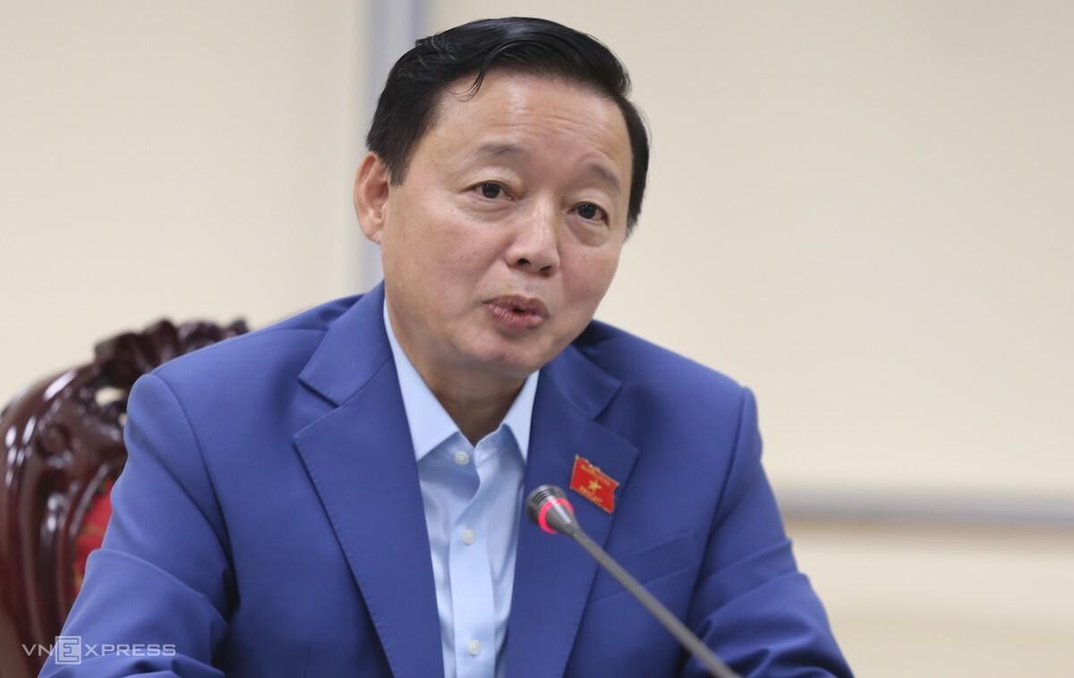 Bộ trưởng Trần Hồng Hà nói về những điểm mới của luật. Ảnh: Gia Chính