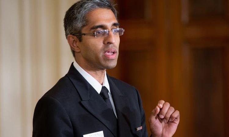 Vivek Murthy tại Nhà Trắng hồi tháng 8/2015. Ảnh: AP.