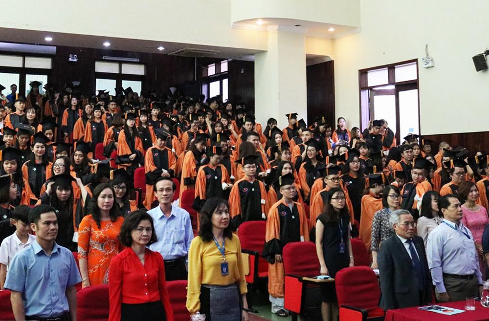 Sinh viên Đại học Khoa học xã hội và Nhân văn trong lễ tốt nghiệp hồi tháng 12/2019. Ảnh: HCMUSSH.