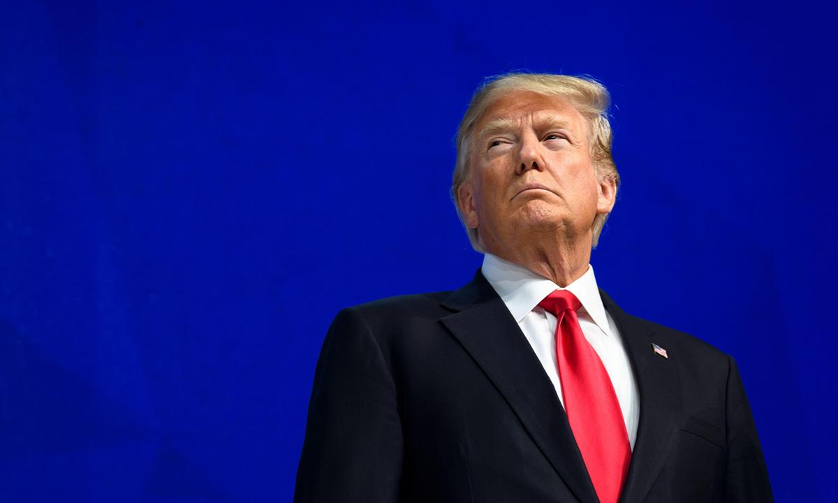 Tổng thống Donald Trump tại Diễn đàn Kinh tế Thế giới ở Davos, Thụy Sĩ hồi tháng 1/2018. Ảnh: AFP.
