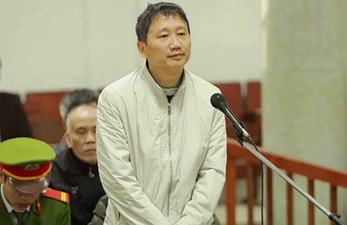 Ông Trịnh Xuân Thanh trong phiên tòa năm 2018. Ảnh: TTXVN.