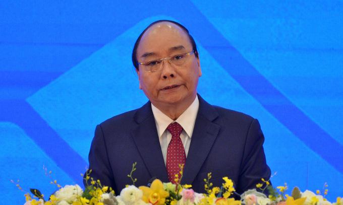 Thủ tướng Nguyễn Xuân Phúc khai mạc Hội nghị cấp cao ASEAN lần thứ 37 hôm 12/11. Ảnh: Vũ Anh.