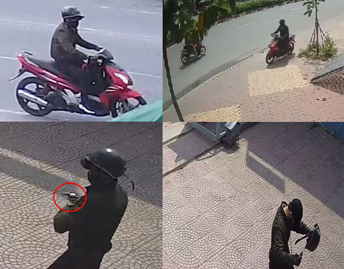 Camera ghi lại hình ảnh tên cướp tẩu thoát. Ảnh: Công an Bình Dương