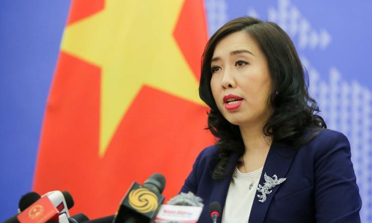 Người phát ngôn Bộ Ngoại giao Việt Nam Lê Thị Thu Hằng. Ảnh: Baoquocte.