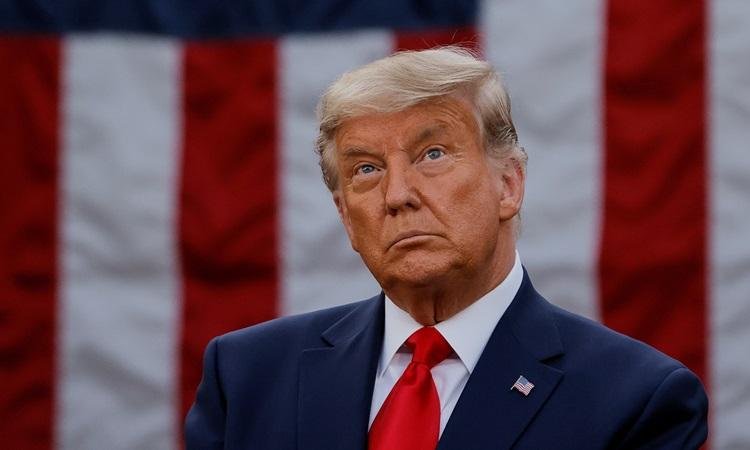 Tổng thống Mỹ Donald Trump phát biểu tại Nhà Trắng hôm 13/11. Ảnh: Reuters.