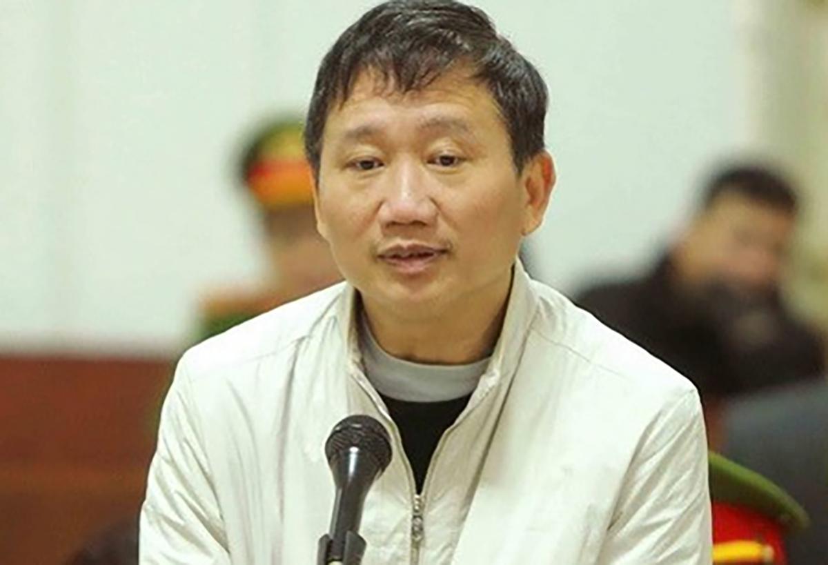 Trịnh Xuân Thanh trong phiên tòa năm 2018. Ảnh: TTXVN.