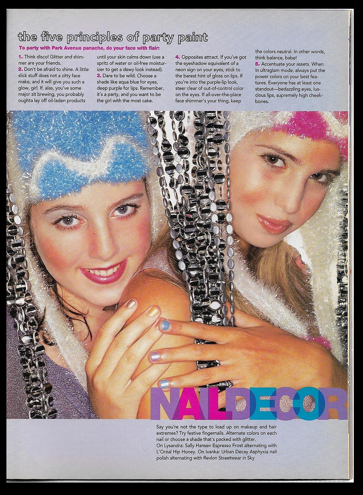 Ohrstrom (trái) và Ivanka trên tạp chí Sassy tháng 12/1997. Ảnh: Ohrstrom