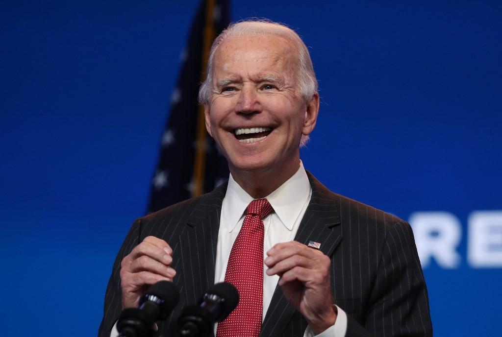 Tổng thống đắc cử Joe Biden phát biểu trước truyền thông tại Nhà hát Queen ở Wilimington, Delaware, hôm 19/11. Ảnh: AFP