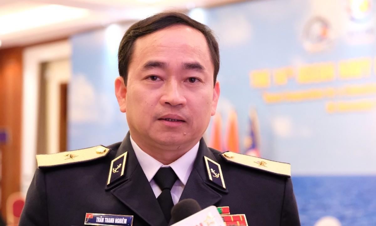 Chuẩn đô đốc Trần Thanh Nghiêm, Tư lệnh Quân chủng Hải quân. Ảnh: Hoàng Thùy